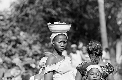 Marketplace Photograph - Girl In The Marketplace, Ivory Coast by The Harrington Collection