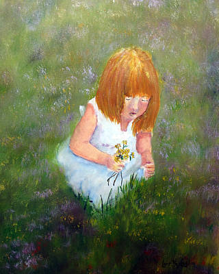 Painting - Girl In The Meadow by Loretta Luglio