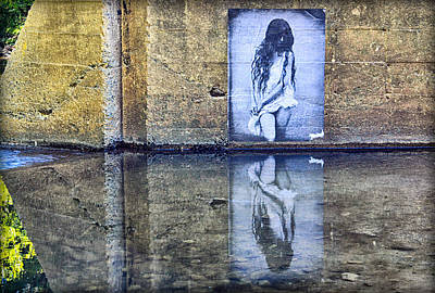 Photograph - Girl In The Mural by AJ Schibig