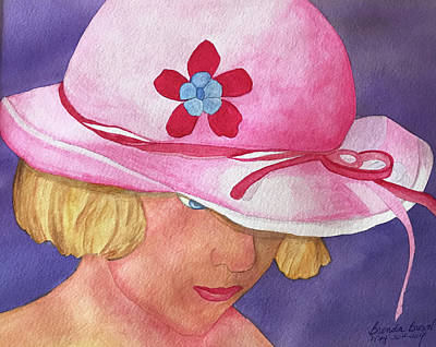 Painting - Girl In The Pink Hat by Brenda Brown