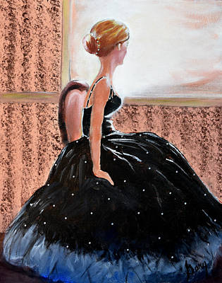 Painting - Girl In The Sequin Gown by Gary Smith