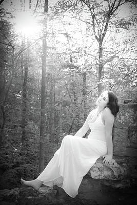 Photograph - Girl In The Sunlight In The Forest by Kelly Hazel
