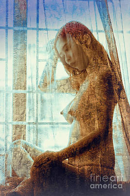 Digital Art - Girl In The Window by Ian Gledhill