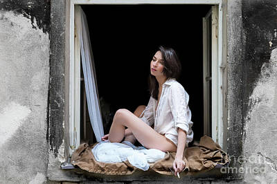 Photograph - Girl In The Window by Miles Whittingham