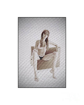Photograph - Girl In Underwear Sitting On A Chair by Michael Edwards