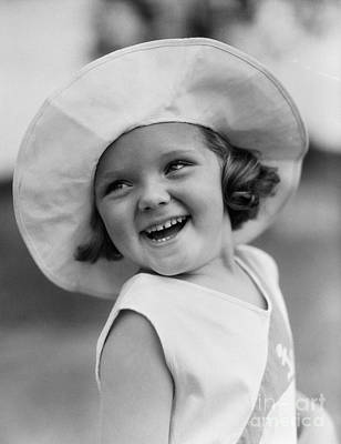 Girl In Wide Brimmed Hat, C.1930s Print by H. Armstrong Roberts/ClassicStock