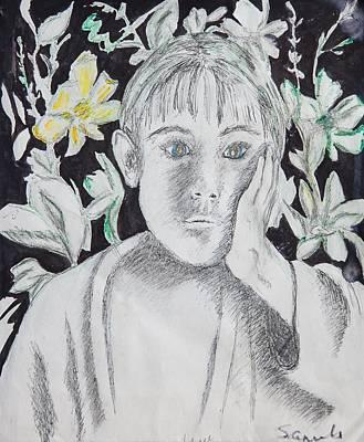 Painting - Girl Meditating  by Sierra Logan