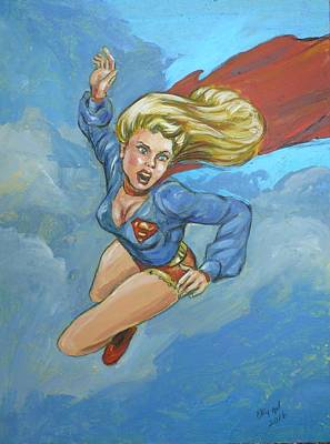 Girl Of Steel 1972 Original by Bryan Bustard
