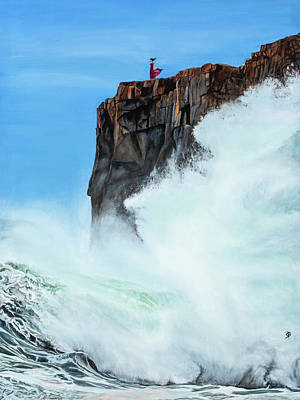 Painting - Girl On A Cliff by Sharon Bignell