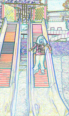 Little Mosters - Girl on a slide by Ashish Agarwal