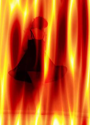 Digital Art - Girl On Fire by Jeff Iverson