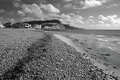 Photograph - Girl On Sidmouth Beach by Chris Day