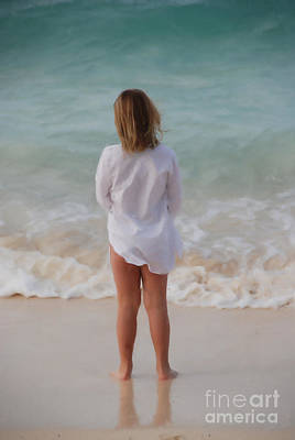 Girl On The Beach Art Print