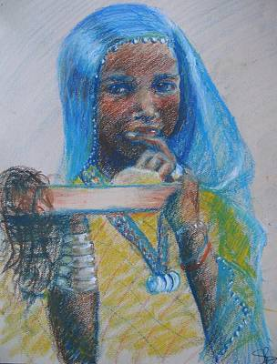 Painting - Girl On The Border Of Niger And Burkina Faso by Susan Brooks