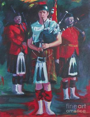 Painting - Girl Piper by Lesley McVicar