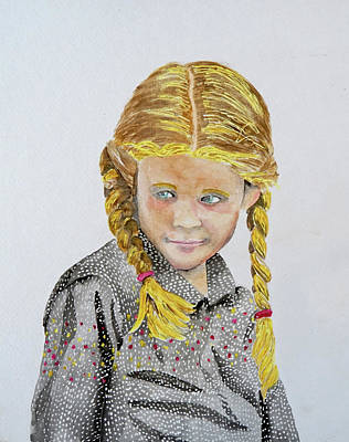 Tomboy Painting - Girl Portrait by Gary Thomas