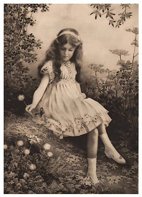 Children Stories Digital Art Photograph - Girl Portrait by Hans Wolfgang Muller Leg