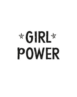Digital Art - Girl Power- Design By Linda Woods by Linda Woods