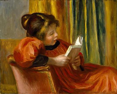 Painting - Girl Reading by Auguste Renoir