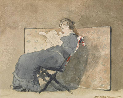 Painting - Girl Reading by Winslow Homer