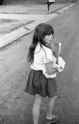 Photograph - Girl Returns Home From School, 1971 by Jeremy Butler