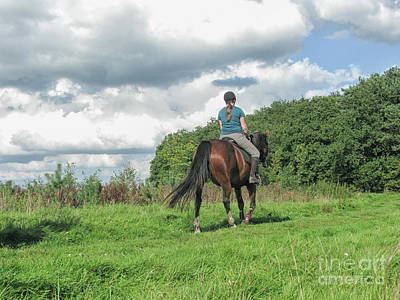 Photograph - Girl Riding Horse by Patricia Hofmeester