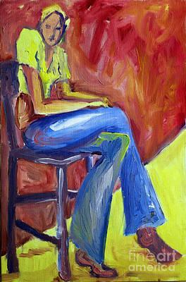 Photograph - Girl Sitting by Karen Adams