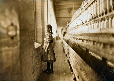 Girl Spinner 11 Years Old Rhodes Manufacturing Co Lincolnton 1908 Art Print