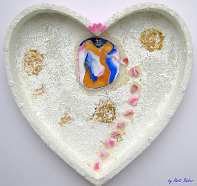 Girl Spreading Hearts Whole Artwork Art Print
