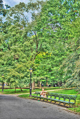 Girl Uninterrupted In Central Park Original by Randy Aveille