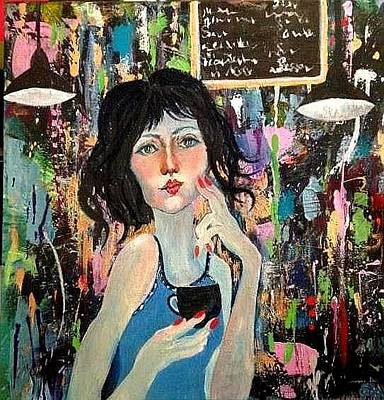 Painting - Girl Who Thinks by Esther Woods