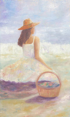Painting - Girl With A Basket by Joy Fahey