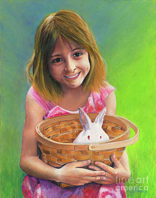 Painting - Girl With A Bunny by Jeanette French