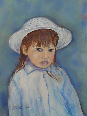 Painting - Girl With A Hat by Loretta Luglio