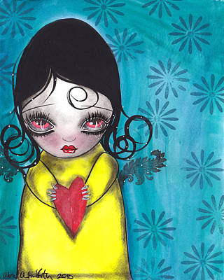 Painting - Girl With A Heart by  Abril Andrade Griffith