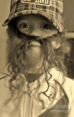 Girl With A Mustache 1 Art Print by Sarah Goodbread