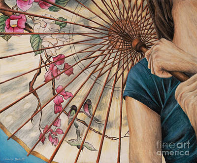 Girl With A Parasol Art Print