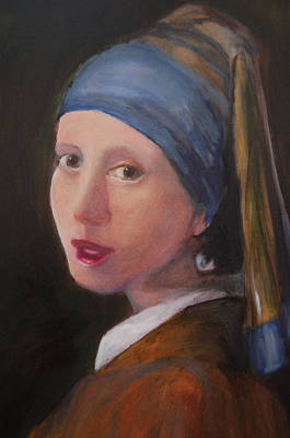 Girl With A Pearl Earring - Reproduction Art Print by Lisa Konkol