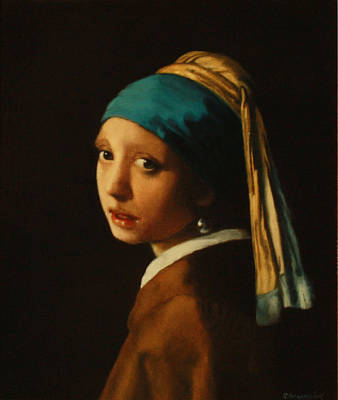 Girl With A Pearl Earring Painting - Girl With A Pearl Earring  by G Gmachowski
