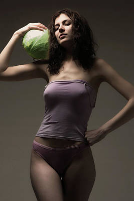 Photograph - Girl With Cabbages by Evgeniy Lankin