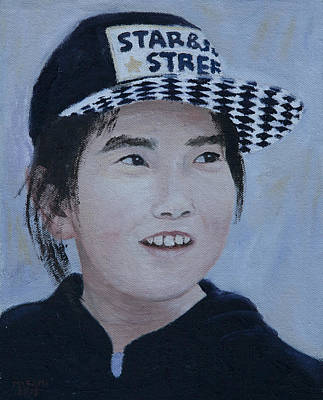 Painting - Girl With Cap by Masami Iida