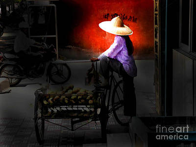 Photograph - Girl With Cart by Rick Bragan