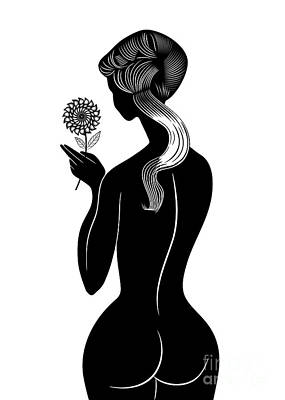 Girl With Flower Art Print by Michal Boubin