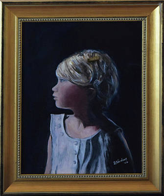 Painting - Girl With Gold Barette by Sandra Nardone