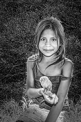 Photograph - Girl With Her Pet by Maria Coulson