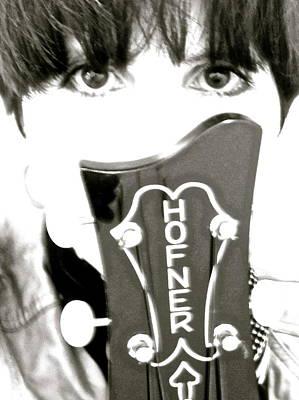Hofner Photograph - Girl With Hofner Bass by Julie Lynn Mammano