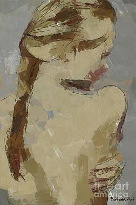Figurative Digital Art - Girl With Plait by Dragica Micki Fortuna