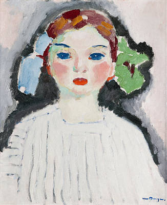 Van Dongen Painting - Girl With Ribbons In Her Hair by Kees van Dongen