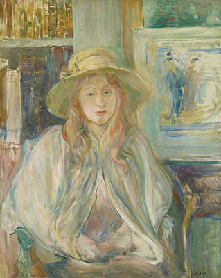 Painting - Girl With Straw Hat by Berthe Morisot