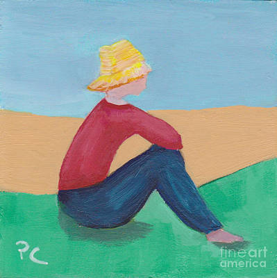 Painting - Girl With Straw Hat by Patricia Cleasby
